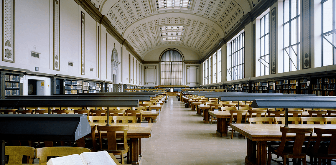 Doe Memorial Library Reading Room